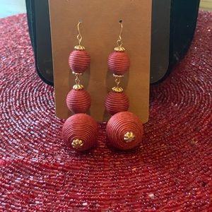 💥4/$10💥 Dangle Earrings Dark Red
